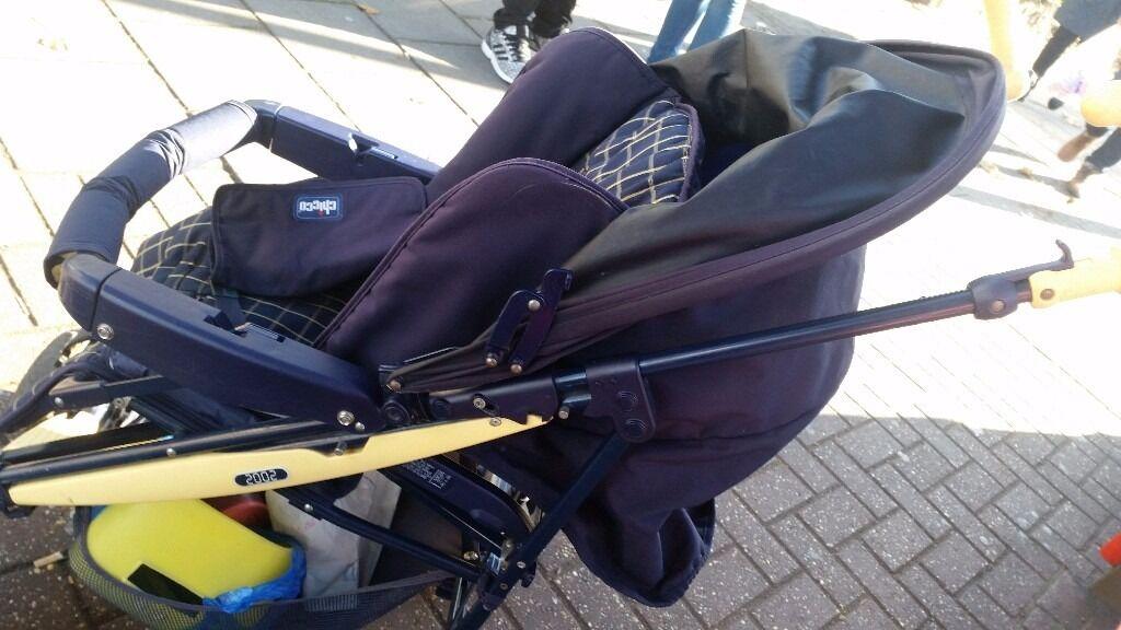 Chicco Liteway Pushchair / Stroller 2002 Navy Blue | in ...