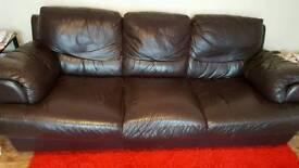 3 Seater Sofa 2 Chairs and Pouffe