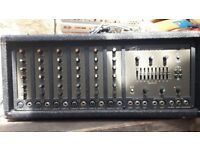 Peavey xr600c 6 channel mixer amp and 2 laney theatre 200 speakers
