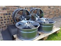 """SET OF 4 - 19"""" STAGGERED MERCEDES BENZ AMG STYLE ALLOY WHEELS"""