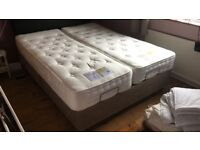 Twin/King electric adjustable beds made by the Mobility Furniture Company VGC
