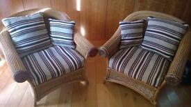 Wicker chairs - love seat and two singles