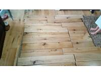 1.6 sq m solid engineered white oak rustic lacquered