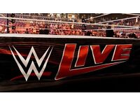 2 RINGSIDE TICKETS WWE GLASGOW FACE VALUE