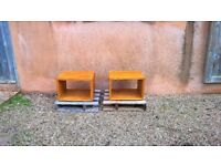 A pair of bedside cube tables Ex display