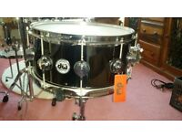 DW Collectors Series Black Nickel Over Brass 14x6.5 Snare Drum as new with tag & Hard Case