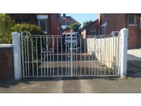 White Iron Driveway Gates
