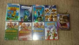 Mixed kids DVDs