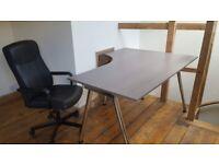 Height-Adjustable Large Ikea Desk