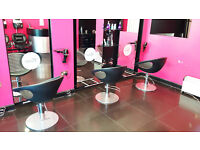 A fashionable and stylish hair salon with lots of potential for good business, available now.
