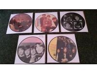 The Beatles : collection of 5 picture disc records