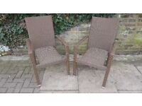 2 x Hartman Rattan Garden Armchairs Chair (Pair) VERY GOOD CONDITION WEATHERPROOFED ALL YEAR CHAIRS