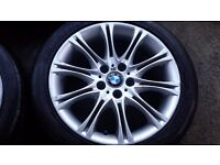 BMW MV2 REAR 8.5J X 18 WHEELS X2 WITH 255 40 18 TYRES 6-7MM BALANCED UP FOR 1.3& Z SERIES