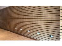 Shop fitting slat wall