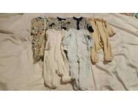 Boys bundle of sleepsuits 3-6m