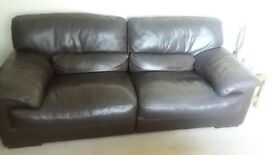 Brown leather sofa - need gone ASAP