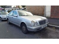 mercedes e200 automatic for sale px to clear spares or repaires start and drives