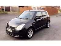 2006 SUZUKI SWIFT 1.5 PETROL 12 MONTHS MOT KEYLESS DRIVE SERVICED BLACK