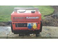 Kawasaki petrol generator - GA1400A