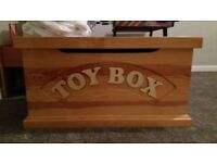 Solid pine childrens toy box