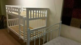 Brand New NOVARO BUNK BEDS in WHITE. SOLID PINE. £200.00.