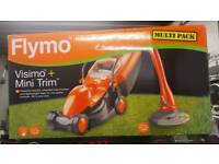 Brand new Flymo set lawnmower and grass trimmer