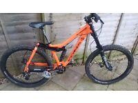 Kona stinky full suspension mountain bike