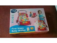 New in box vtech first steps pink baby walker