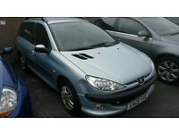 BARGAIN 2005 PEUGEOT 206 SW 1.4CC MOT JUST OUT PX WELCOME £295