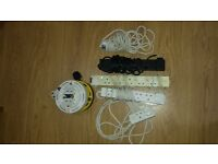 2 x 4 way 5m Cable Reels and mixture of 6 extension cables £15.00