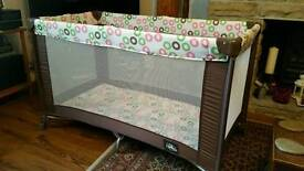 Kiddi couture large travel cot