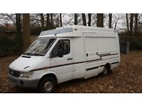 mercedes sprinter 312 camper / project 1997 2 owners ..... due to timewaster still for sale