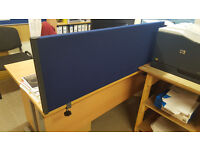 Jemini Desk dividers - brand new in packaging - blue - 1200mm x 400mm