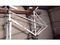 Vintage Raleigh candice mixte frame and parts
