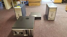 DESKTOP PC'S SET OF 4 ADVENT/IBM/OTHER, WINDOWS XP PROFFESSIONAL OR XP HOME ALL WORKING CONDITION