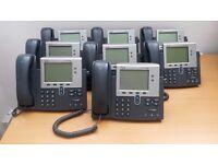 Cisco 7941 Model IP Phones for sale.
