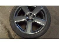 18, inch audi s4 wheels !!!genuine!! just refurbed in anthrasite / gun matal gray
