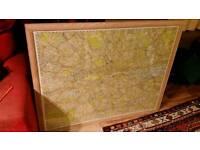 Large framed map of london