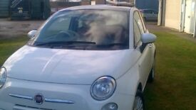 fIAT 500 LOUNGE WITH PANORAMIC ROOF MOT AND SERVICE HISTORY