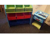 Kids Storage boxes and Bedside cabinet