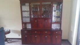 Mahogany Display and drinks cabinet in excellent condition