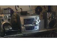 Bush Hifi 3 disc CD player with remote