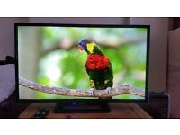 """Like new, 32"""" HD, LED, slim design Sharp TV, HDMI, USB ports, built in freeview, Ethernet ..etc"""