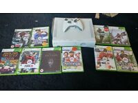 Xbox 360 - 20 GB with controller, all cables and 9 games