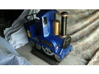 Coin operated kiddie rides train 20p. Play jeep 50p. Play