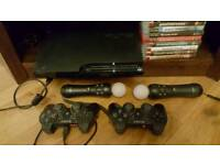 PS3 250GB with 8 games