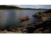 Delta 6.5 metre rib. 140 suzuki outboard. 4 stroke