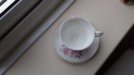 Mayfair fine bone china teacup and saucer