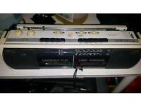 Sharp cassette player radio retro