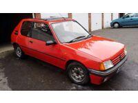 Peugeot 205 XS Cherry Red